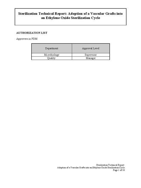 EO Sterilization Product Adoption Rationale