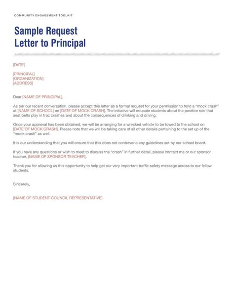 application letter  principal format   write