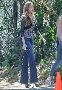 Sofia Vergara shows off her long legs in bell-bottoms on