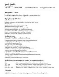 bar owner resume bar server resume sle resume templates