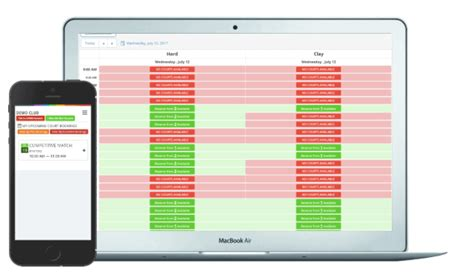 tennis court software     automate booking process