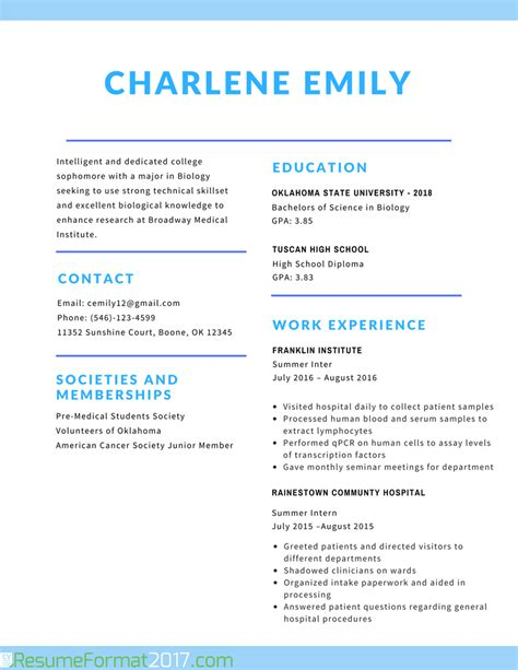 resume for students format the greatest student resume format 2017 resume format 2017