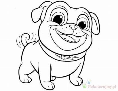 Coloring Puppy Pals Dog Rolly Bingo Printable