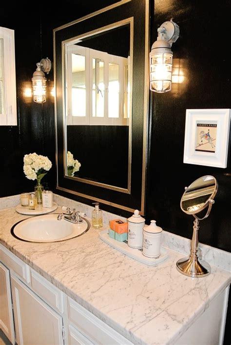 black bathroom submarine sconces black  gold