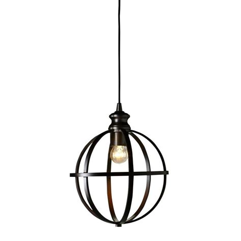 home depot globe lights home decorators collection 1 light globe bronze pendant