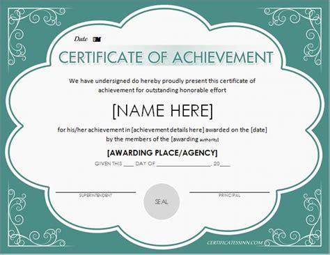 certificates  achievement  word professional