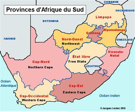 afrique du sud carte provinces