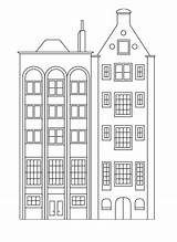 Coloring Buildings Pages Apartment Apartments Houses Building Simple Tall Printable Stylish Row Drawing Books Print Easy Adult Windows Printables Visit sketch template
