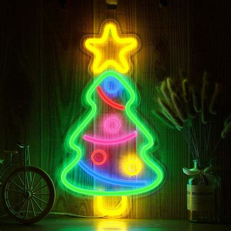 My main aim to teach u guys that how u can make decoration pieces without. Creative Decorative Neon Lamp Led Christmas Tree Decoration Neon Sign Light Wall Decor Art Neon ...