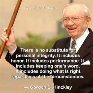 LDS Quotes On Honesty and Integrity