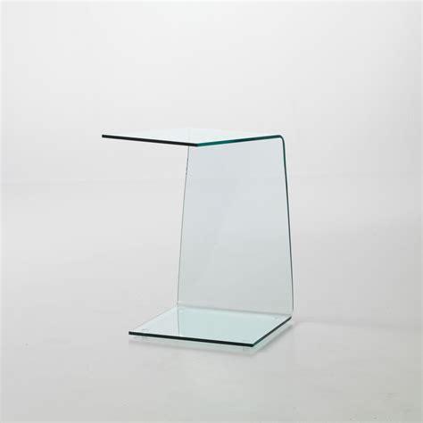 tavolini divano tavolino in vetro curvato sabine lato divano 40 x 40 x 60 cm