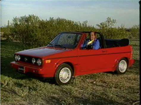 motorweek retro review 89 volkswagen cabriolet