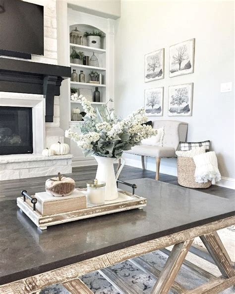Making a statement is easy with a contemporary art deco coffee table—and here are 10 favorites that inlaid bone and bold stripes give this art deco coffee table a sleek and modern elegance that. 48 Gorgeous Coffee Table Design Ideas | Farmhouse table decor, Coffee table centerpieces ...