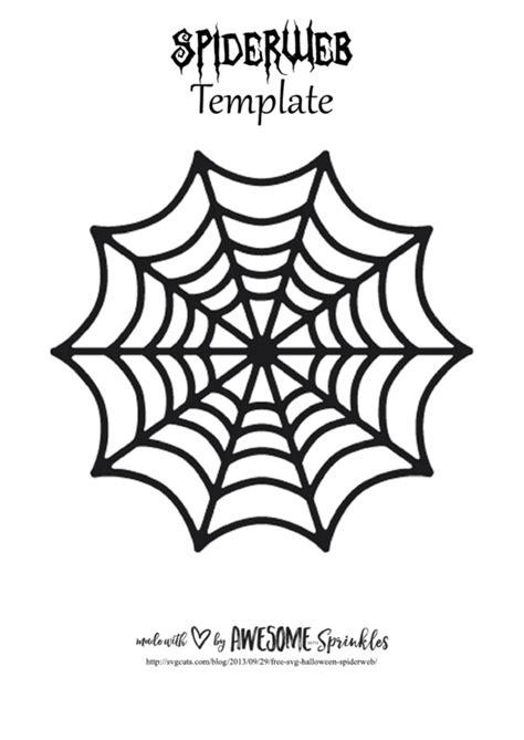 spider web template printable