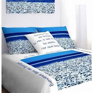 Housse De Couette Mer : linge de lit motif bord de mer ~ Teatrodelosmanantiales.com Idées de Décoration