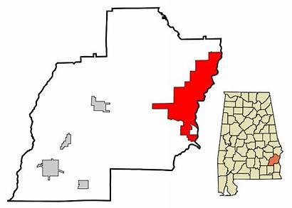 Alabama Eufaula Highlighted Svg County Barbour Unincorporated