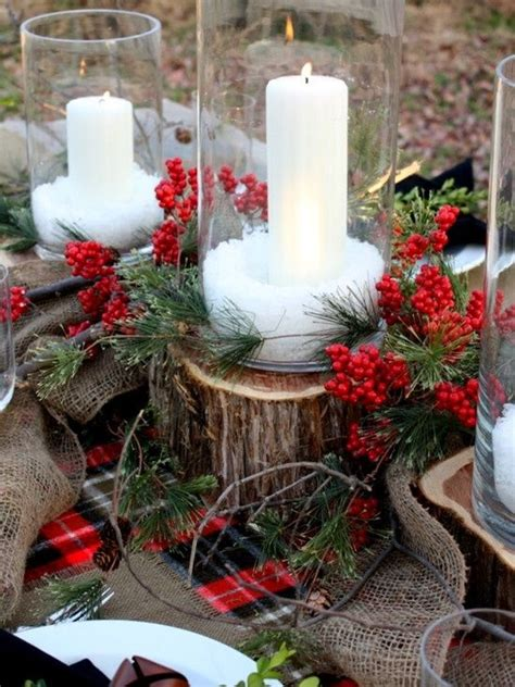 rustic christmas centerpieces christmas
