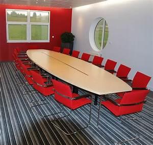 Table 16 Personnes : tables de conf rence table de conf rence intensive 16 18 personnes mobilier de bureau ~ Teatrodelosmanantiales.com Idées de Décoration