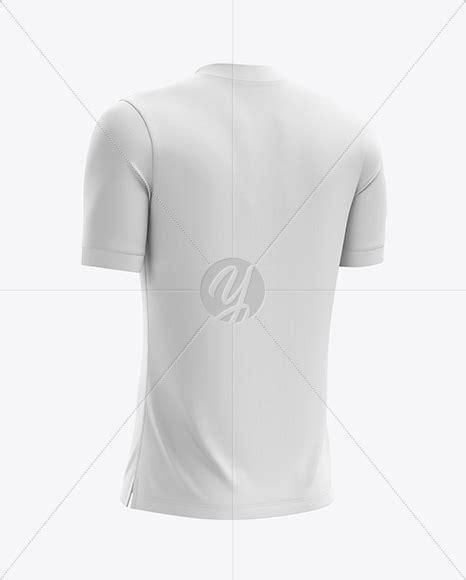 See more ideas about clothing mockup, mockup, mma shorts. Men's Soccer V-Neck Jersey mockup (Back Half Side View) in ...