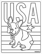 Presidents Coloring Printable Usa Dog Puppy sketch template