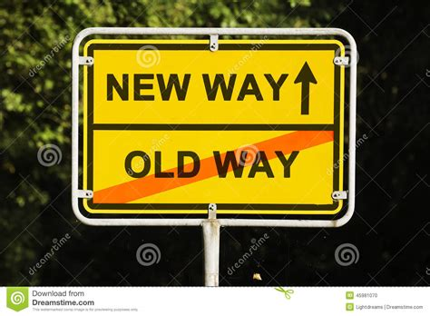 Old And New Way Stock Photo  Image 45981070