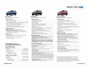 2010 ford escape escape hybrid specification summary With ford escape cargo