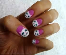 cat nails catsparella pretty kitty nail tutorial