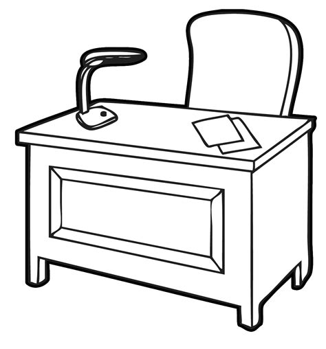 clipart bureau office clipart black and white pencil and in color