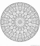 Mandala Coloring Simple Therapy Detailed sketch template