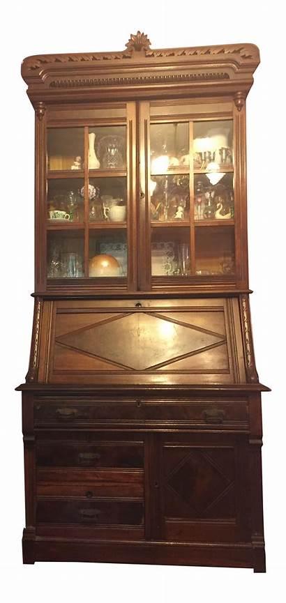 Desk China Cabinet Antique Wood Secretary Chairish