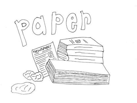 paper recycling  materials colouring page  sarah