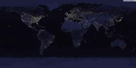 Carte De Pollution Nocturne by La Pollution Lumineuse