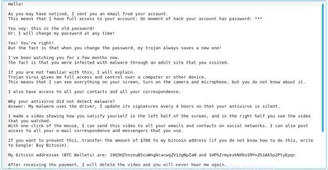 """These email subject lines for sales make sure your prospects open them instead of deleting them. """"I sent you an email from your account"""" email spam Bitcoin blackmail scam"""