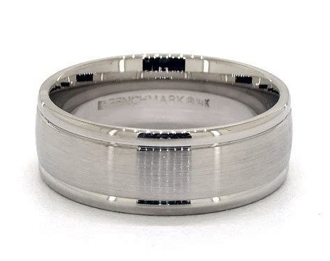 mm grooved comfort fit contemporary wedding band