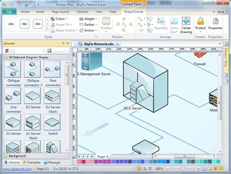 network diagram software  network drawing computer