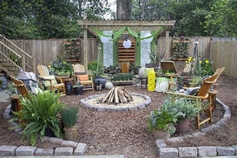 garden rustic patio ideas bungalow landscape design landscape rustic with vertical garden patio furniture wood fencing