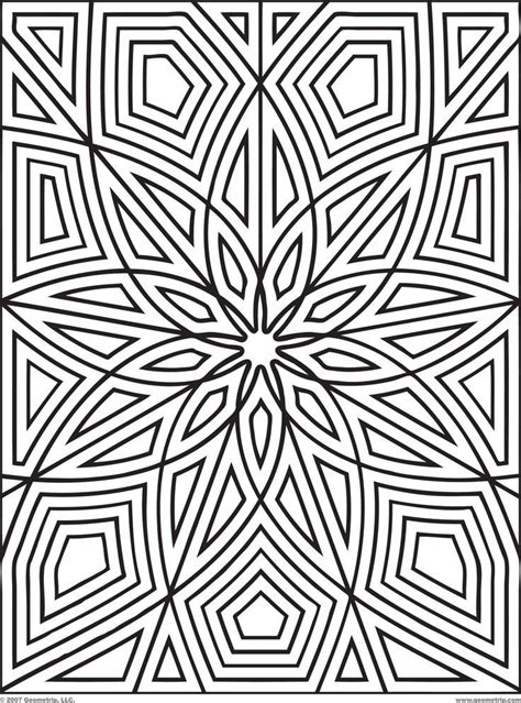 coloring pages patterns  geometric pattern coloring