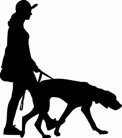 Walking Dog Silhouette Clipart Clip Walker Transparent