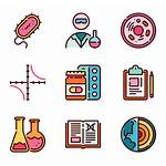 Study Biology Icons Icon Scientific Packs Vector