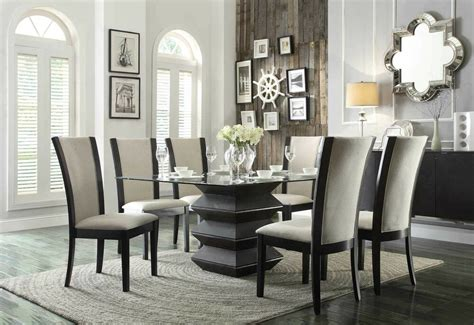 unique contemporary accordion dining table  chairs