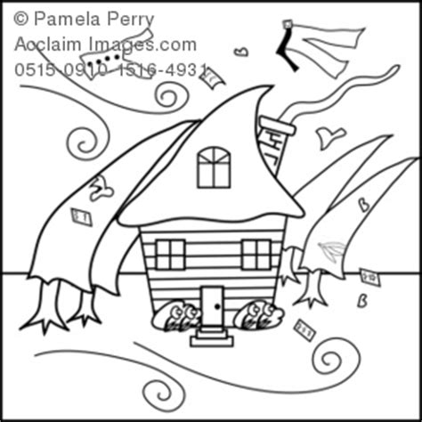 house   hurricane coloring page royalty  clip art