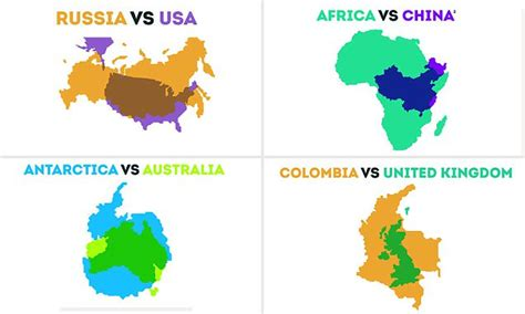 fascinating maps reveal  scale  countries worldwide