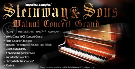 Imperfect Samples  Steinway Walnut Concert Grand (topic