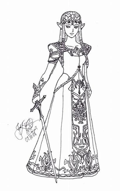 Zelda Coloring Princess Legend Ausmalbilder Link Twilight