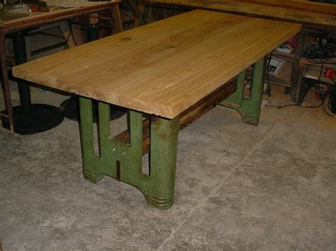 Hand Made Sinker Cypress Tables With Industrial Style