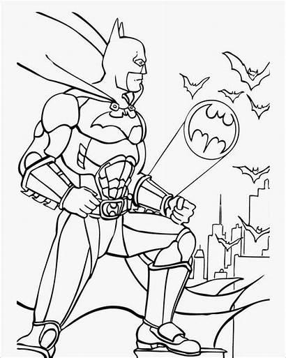 Coloring Pages Superhero Template Batman Colouring Templates