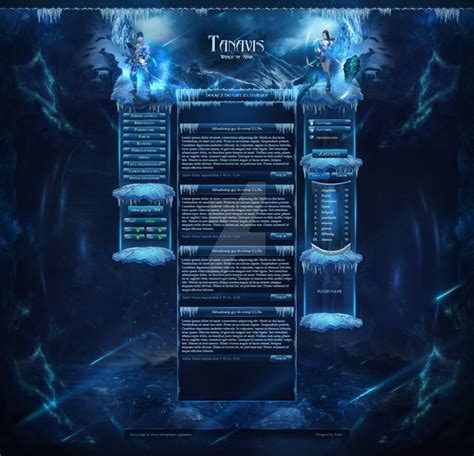 website templates fantasy tanavis metin2 webdesign template fantasy game mmo by