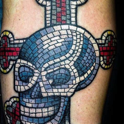mosaic tattoo designs  men decorative ink ideas