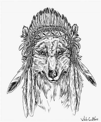 Indian Wolf Soul Drawings Whitecrow Deviantart Native