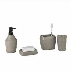 umbra roca bathroom collection concrete black by design With umbra bathroom accessories